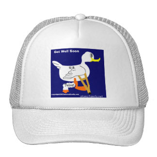 lameduck, Get Well Soon, united states government. Hats