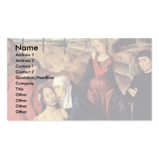 Lamentation Of Christ With Donors By Memling Hans Business Card Templates
