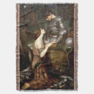 Lamia (1905) by John Waterhouse Throw Blanket