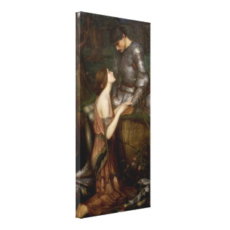 Lamia and the Soldier by JW Waterhouse Canvas Print