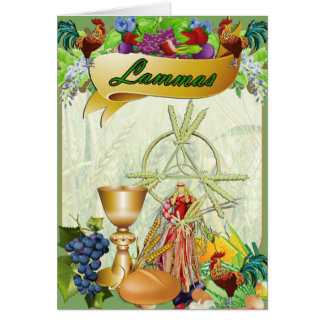 Lammas Lughnasadh Pagan Greeting Card
