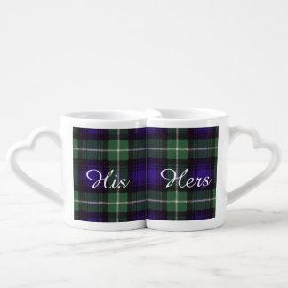 Lamont clan Plaid Scottish tartan Lovers Mugs