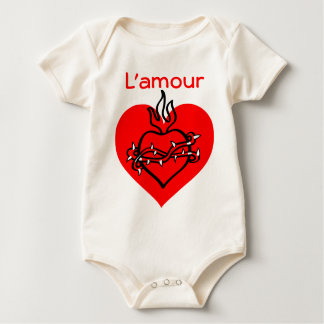 L'amour heart infant onsie creeper