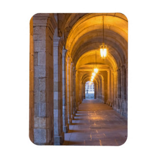 Lamp lit stone hallway, spain magnet