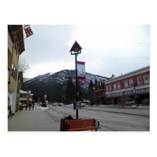 Lamppost in Banff, Alberta Postcard