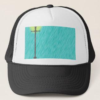 Lamppost In the Rain Trucker Hat