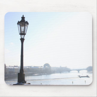 Lamppost on Charles Bridge (Prague) Mouse Pad