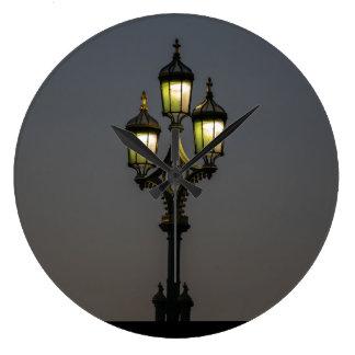 Lamppost wall clock