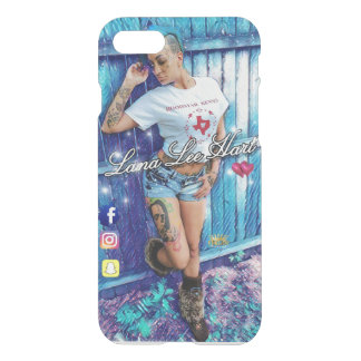 LANA LEE HART iPHONE 7 and 7 PLUS CASE(BLUE FENCE) iPhone 8/7 Case