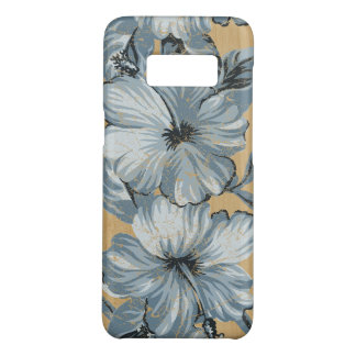 Lanai Hawaiian Hibiscus Faux Wood- Denim blue Case-Mate Samsung Galaxy S8 Case