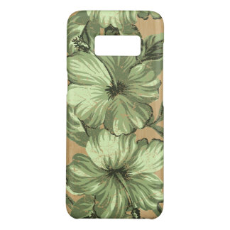 Lanai Hawaiian Hibiscus Faux Wood- Moss Green Case-Mate Samsung Galaxy S8 Case