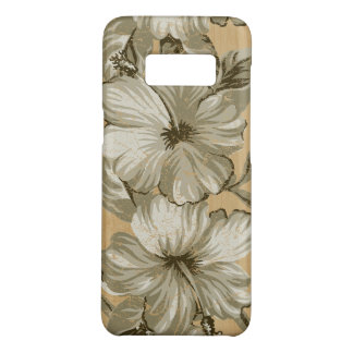 Lanai Hawaiian Hibiscus Faux Wood- Taupe Case-Mate Samsung Galaxy S8 Case