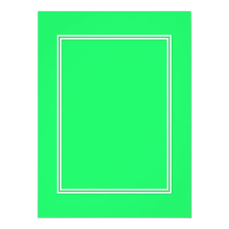 Lanai Lime-Green-Acid Green-Doube White Border 17 Cm X 22 Cm Invitation Card