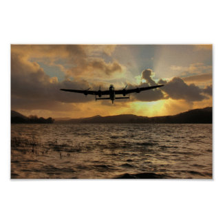 Lancaster and the Lake Poster