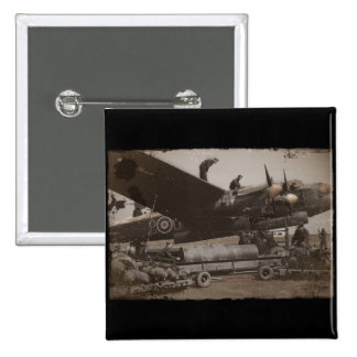 Lancaster Being Loaded with Bombs Pinback Button