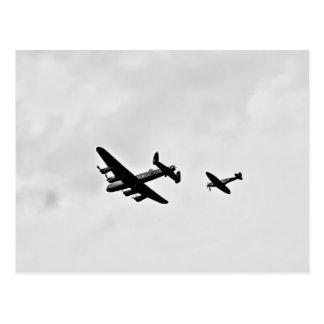 Lancaster Bomber And Spitfire Postcards