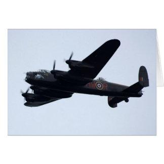 Lancaster Bomber In Flight. Card
