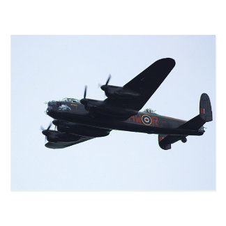 Lancaster Bomber In Flight. Postcard