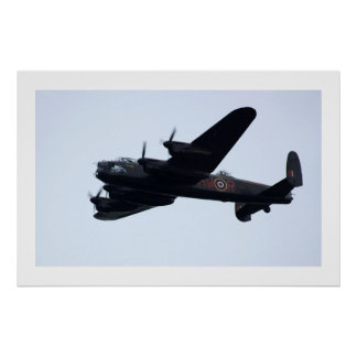 Lancaster Bomber In Flight . Poster