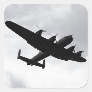 Lancaster Bomber Landing Square Sticker