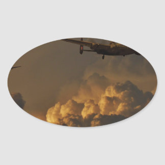 Lancaster bomber STORM Oval Sticker