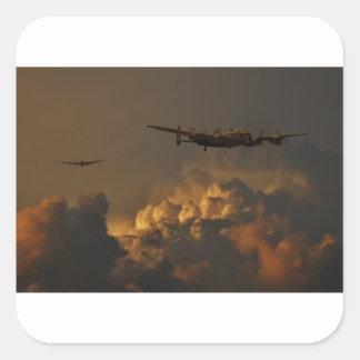 Lancaster bomber STORM Square Sticker