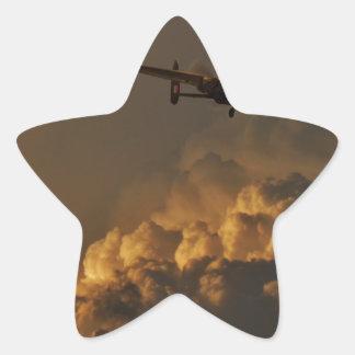 Lancaster bomber STORM Star Sticker