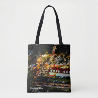 Lancaster Fairgrounds Night Lights Tote Bag