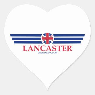 Lancaster Heart Sticker