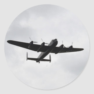 Lancaster Heavy Bomber Classic Round Sticker