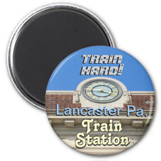 Lancaster Train Station! Train Hard Keychain! Magnet
