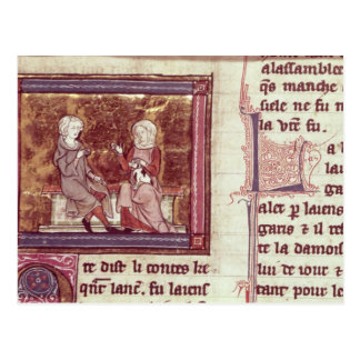 Lancelot and Guinevere sit and talk Postcard