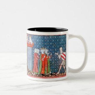 Lancelot proves his love Two-Tone coffee mug