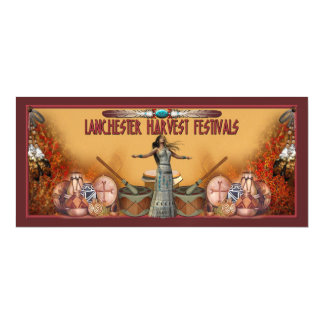Lanchester Harvest Festivals and PowWow Magnetic Invitations