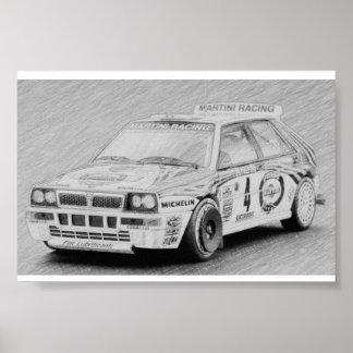 Lancia Delta Integrale Poster