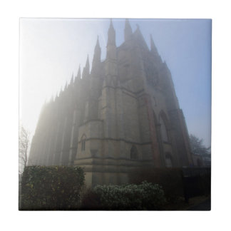 Lancing Chapel in the mist, West Sussex, England, Tile