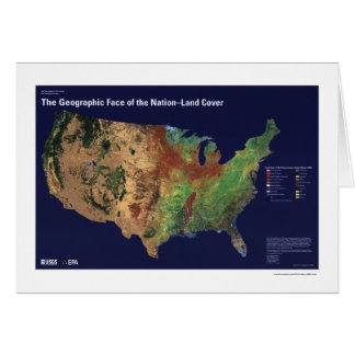 Land Cover In USA Map 1992 Card