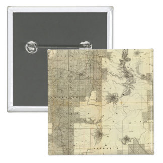 Land grant Washington and Oregon 15 Cm Square Badge