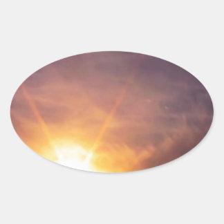 Land of 1000 Suns Oval Sticker