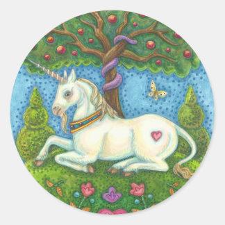 Land Of Eden Unicorn Serpent STICKERS Sheet