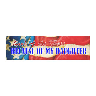 Land of Free Daughter Canvas Plaque Canvas Print