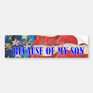 Land of Free Son Bumper Sticker