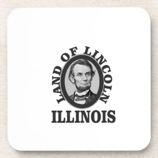 land of lincoln portrait coaster