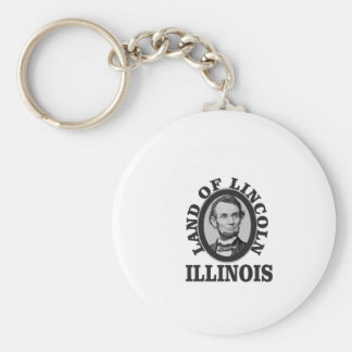 land of lincoln portrait key ring