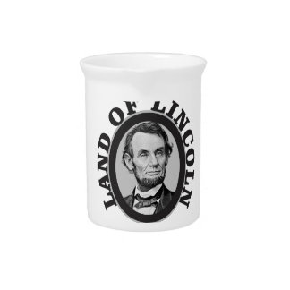 land of lincoln portrait pitcher