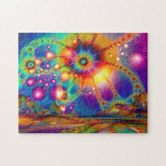 Land of psychedelic illuminations jigsaw puzzle