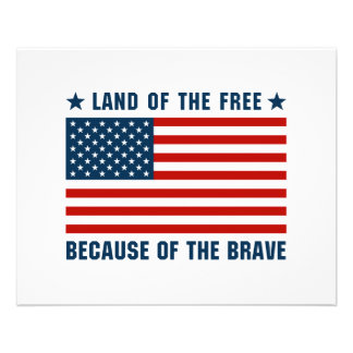 Land of The Free American Flag Flyers