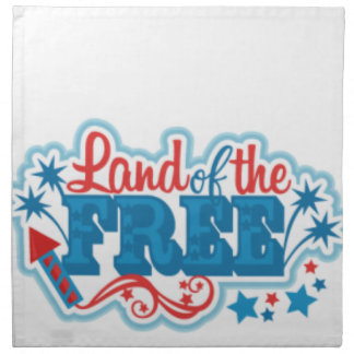 Land of the Free- American gifts, freedom Napkin