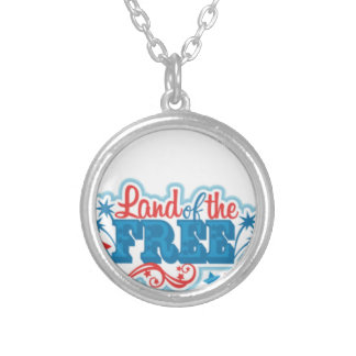 Land of the Free- American gifts, freedom Silver Plated Necklace