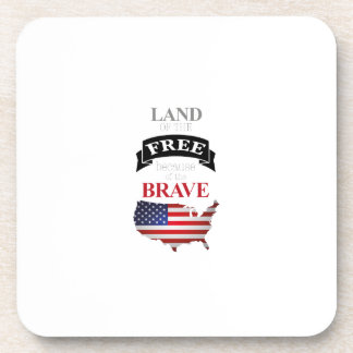 Land of the free because of the brave coaster